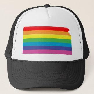 kansas pride. striped. keps
