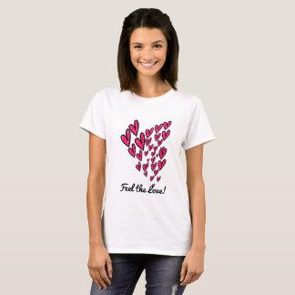Känselförnimmelse den rosa och svart designT-tröja Tshirts