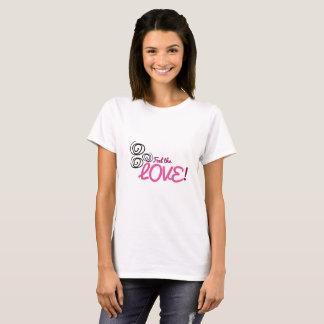 Känselförnimmelsen som kärleken pinks, lila med t shirt