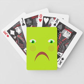 Känsliga sjuka leka kort spelkort