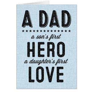 Känslosamt lyckligt fars dagkort hälsningskort