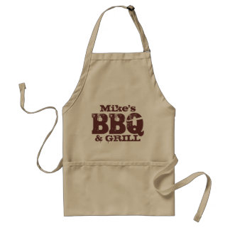 Känt BBQ-förkläde för personlig för brun beige för Förkläde