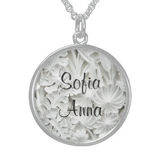 Känt blommigthänge för sterling silver 2 sterling silver halsband
