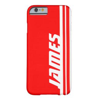 Känt röd & för vitrandsport för iPhone 6 fodral Barely There iPhone 6 Fodral
