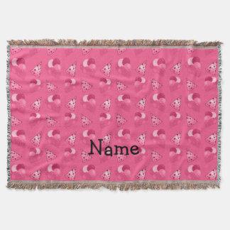 Känt rosa födelsedagmönster för personlig mysfilt