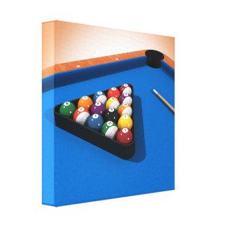 Kanvastryck: Bassängbollar/biljard Canvastryck