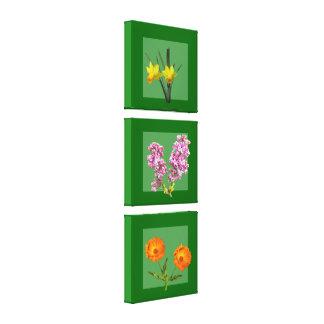 Kanvastryck - botanisk Triptych