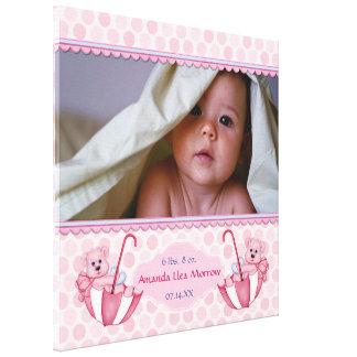 Kanvastryck för baby för paraplynallePolka