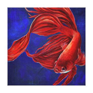 Kanvastryck för Betta fiskmålning