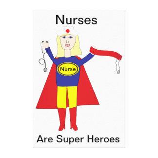 Kanvastryck för hjälte för sjuksköterska toppen