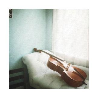 Kanvastryck för violoncellterapiperiod