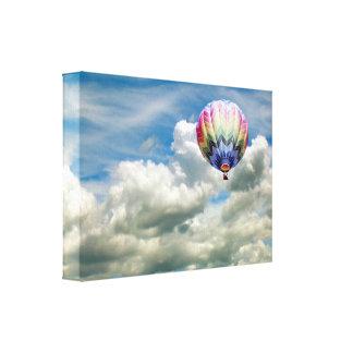 Kanvastryck - luftballong i moln