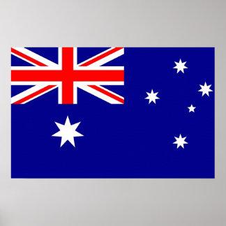 Kanvastryck med flagga av Australien Poster