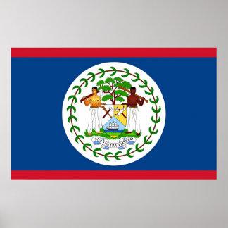 Kanvastryck med flagga av Belize Poster