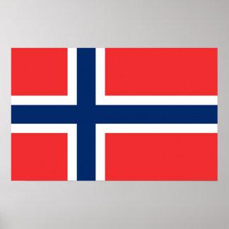 Kanvastryck med flagga av norgen print