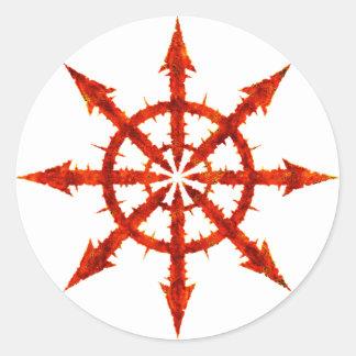 Kaossymbol Runt Klistermärke