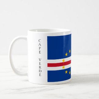 Kap Verde flaggamugg Vit Mugg