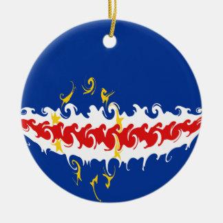 Kap Verde Gnarly flagga Julgranskula