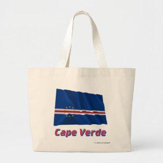 Kap Verde som vinkar flagga med namn Tygkassar