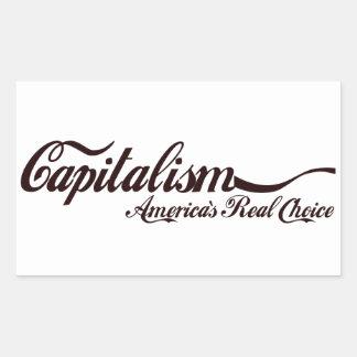 Kapitalism - Amerika verkliga primat Rektangulärt Klistermärke