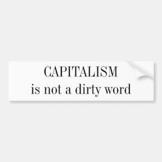 KAPITALISM är inte ett smutsa nerord Bildekal