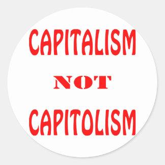 KAPITALISM inte CAPITOLISM Runt Klistermärke
