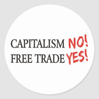 Kapitalism INTE! Runt Klistermärke