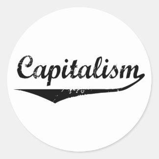 Kapitalism Runt Klistermärke