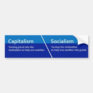 Kapitalism-/Socialismklistermärke Bildekal
