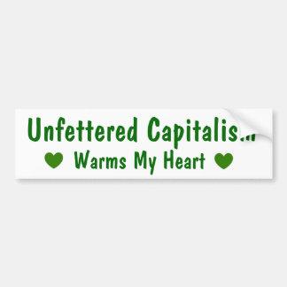 Kapitalism värme min hjärtabildekal bildekal