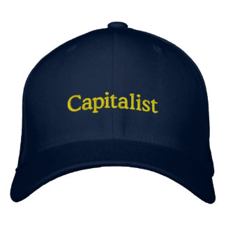 Kapitalistiskt lock broderad keps