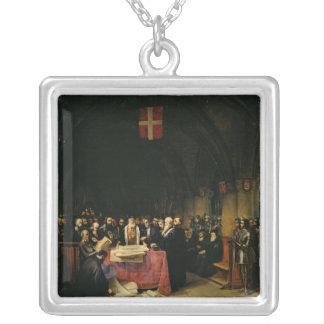 Kapitlet av beställa av St John av Jerusalem Silverpläterat Halsband