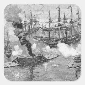 """Kapitulation av """"Tennessee"""", strid av mobilen Fyrkantigt Klistermärke"""