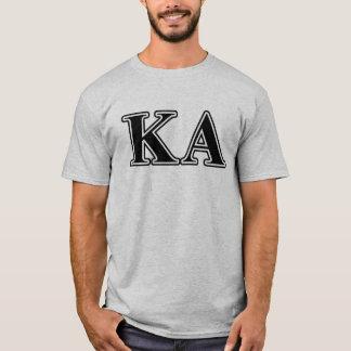 Kappaalfabetisken beställer svart brev tshirts