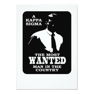 KappaSigma - som önskas 12,7 X 17,8 Cm Inbjudningskort