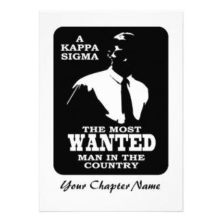 KappaSigma - som önskas Skräddarsydda Inbjudan