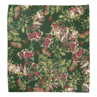 Kaprifolen blommar den blom- botaniska bandanaen bandana