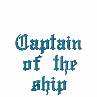 Kapten av frakten broderad tröja