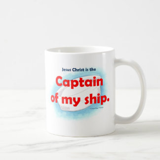 kapten av min frakt vit mugg
