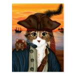 Kapten Leo, piratkatt & vykort för