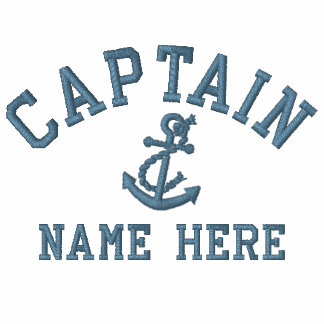 Kapten - med ankra anpassadet broderad tröja
