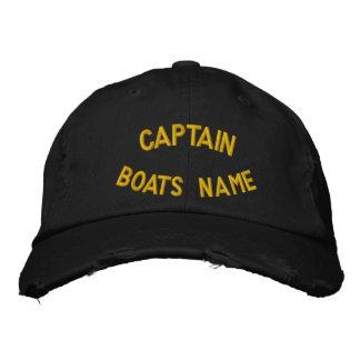 Kapten med ditt beställnings- fartygnamn broderad keps