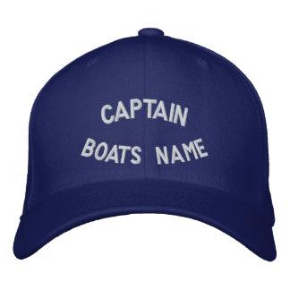 Kapten med ditt fartygnamn broderad keps
