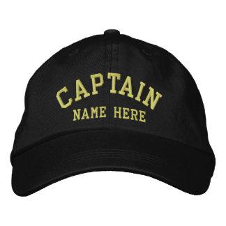 Kapten - sjömananpassade broderad keps
