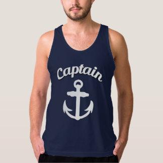 Kaptenen ankrar rolig manar tank top