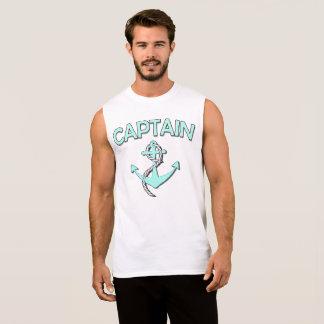 Kaptenen av fartyget med ankrar ärmlösa tröjor