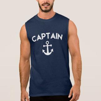 Kaptenmanar skjorta med ankrar sleeveless tröjor