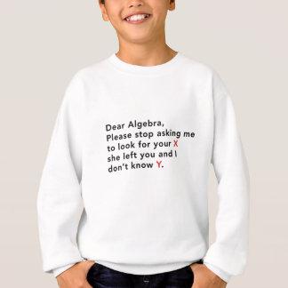 Kära Algebra, behar stoppet som frågar oss att Tshirts