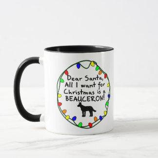 Kära Santa Beauceron Mugg