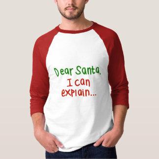 Kära Santa som jag kan förklara T Shirts